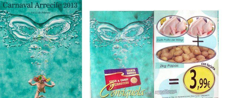 Imagen del folleto en el que se utilizó el cartel del Carnaval