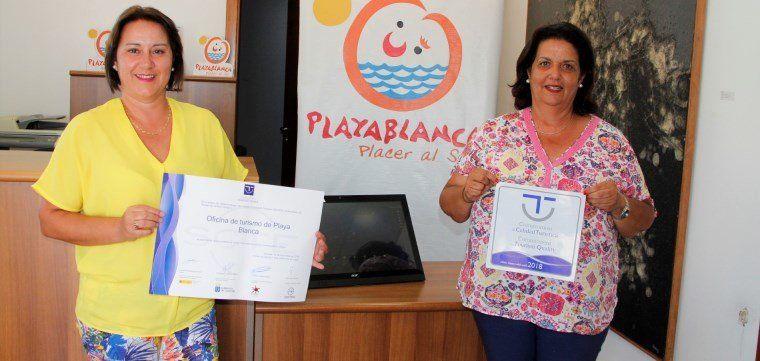 La oficina de turismo de playa blanca consigue el sello for Oficina turismo lanzarote