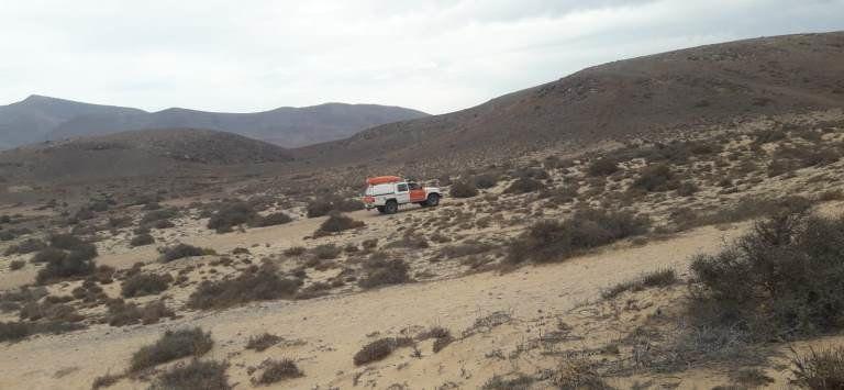 Protección Civil de Yaiza rescata a una mujer herida en Los Ajaches