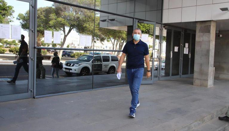 José Carlos Rojas, llegando a los Juzgados a declarar como testigo