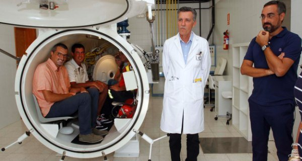 Cámara hiperbárica en Lanzarote, Canarias.